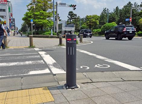 千葉県浦安市で冠水センサ付きボラードの実証試験を開始しました。